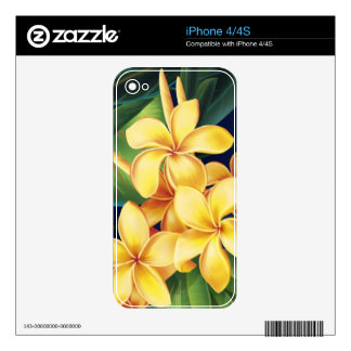 Tropical Paradise Plumeria iPhone 4/4S Skin Skins For iPhone 4