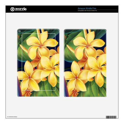 Tropical Paradise Plumeria Kindle or eReader Skin Skin For Kindle Fire
