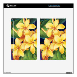Tropical Paradise Plumeria Kindle or eReader Skin Skins For Kindle Fire