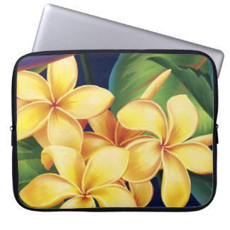 Tropical Paradise Plumeria Neoprene Wetsuit Laptop Sleeve