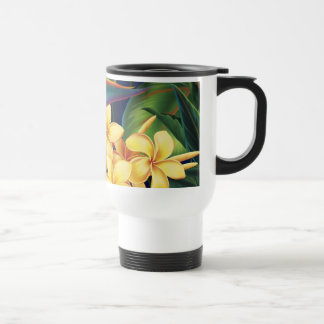 Tropical Paradise Plumeria Travel Mug