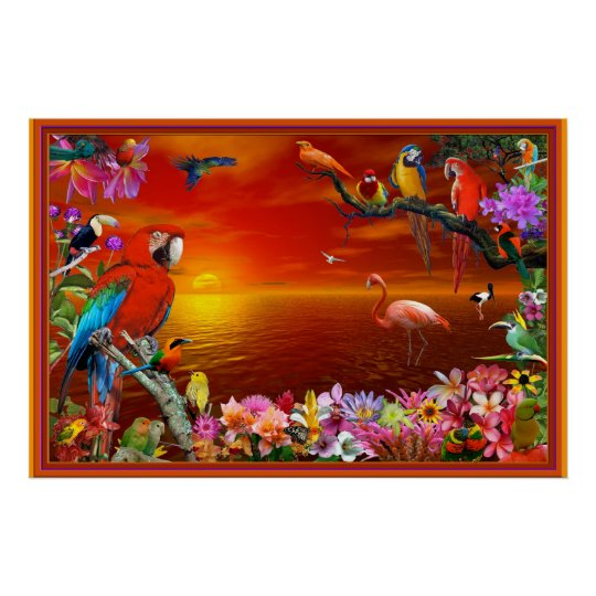Tropical Paradise Poster