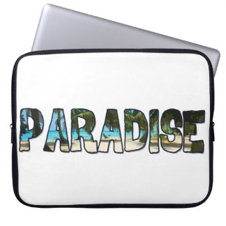 Tropical Paradise Quote Computer Sleeve