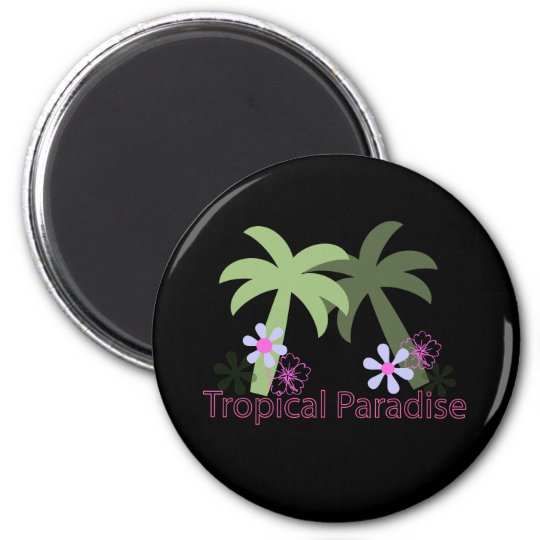 tropical paradise screen magnet