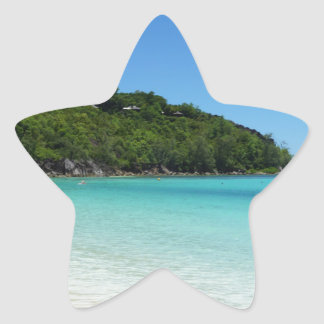 tropical paradise star sticker