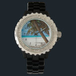 """Tropical Paradise - Sunny day at the beach Wrist Watch<br><div class=""""desc"""">Tropical Paradise,  sunny day at the beach,  wrist watch.</div>"""