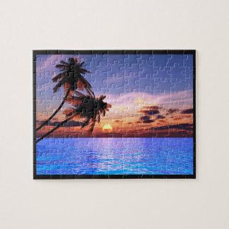 Tropical Paradise Sunset Puzzle