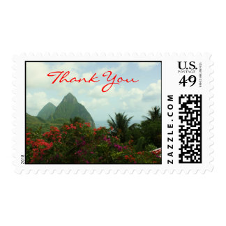 Tropical Paradise Thank You Stamps