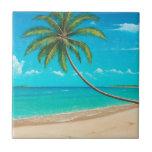 """Tropical Paradise Tile<br><div class=""""desc"""">A gentle calm breeze stirrs the tropical shore</div>"""