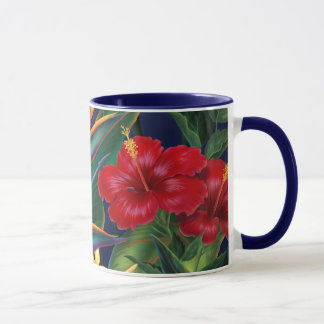 Tropical Paradise Two-tone Navy Mug