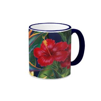 Tropical Paradise Two-tone Navy Mug