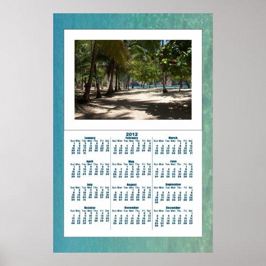 Tropical Paradise Wall Calendar 2012 Poster