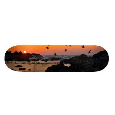 Professional Business Tropical Paradise Water Beach Sunset Birds Destiny Skateboard Deck
