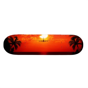 Professional Business Tropical Paradise Water Beach Sunset Jet Destiny Skateboard