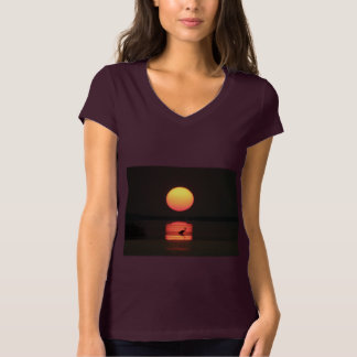 Tropical Paradise Water Beach Sunset Palm Destiny T-Shirt