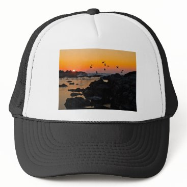 Professional Business Tropical Paradise Water Beach Sunset Palm Destiny Trucker Hat