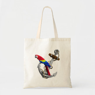 Tropical Parrot And Anchor Tote Bag