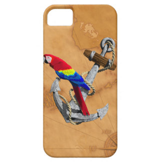 Tropical Parrot And Anchor iPhone 5 Cover