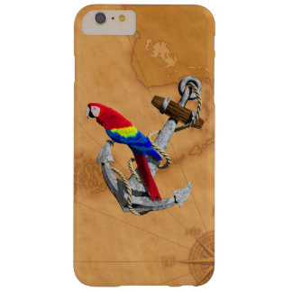 Tropical Parrot And Anchor Barely There iPhone 6 Plus Case