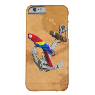 Tropical Parrot And Anchor Barely There iPhone 6 Case