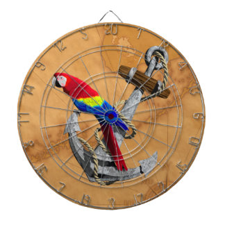 Tropical Parrot And Anchor Dart Board
