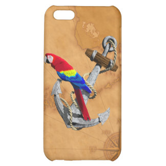 Tropical Parrot And Anchor iPhone 5C Covers