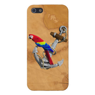 Tropical Parrot And Anchor iPhone 5 Case