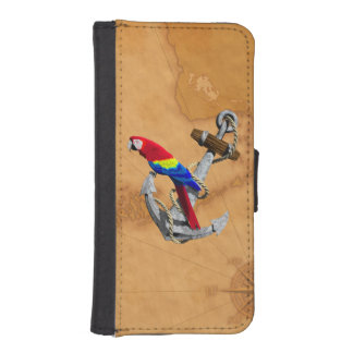 Tropical Parrot And Anchor iPhone 5 Wallet Cases
