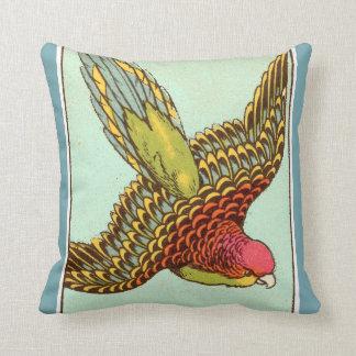 Tropical Parrot Art Throw Pillow