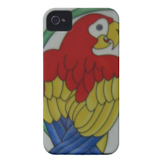 Tropical Parrot Bird Red Blue Yellow Phone Case Case-Mate iPhone 4 Cases