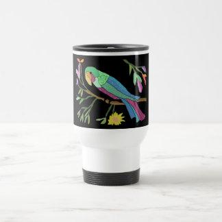 Tropical Parrot Stainless Steel Travel Mug