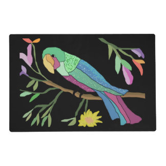 Tropical Parrot Laminated Placemat