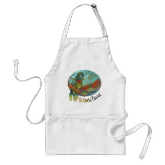 Tropical Parrot of St Lucia Adult Apron