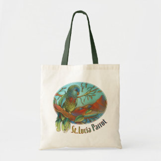 Tropical Parrot of St Lucia Canvas Bag
