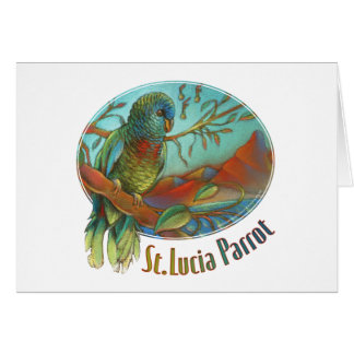 Tropical Parrot of St Lucia Greeting Card
