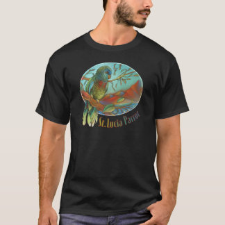 Tropical Parrot of St Lucia T-Shirt