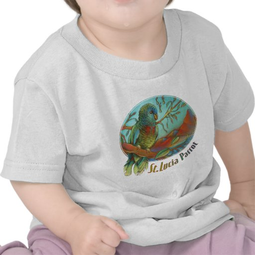 Tropical Parrot of St Lucia Tshirt