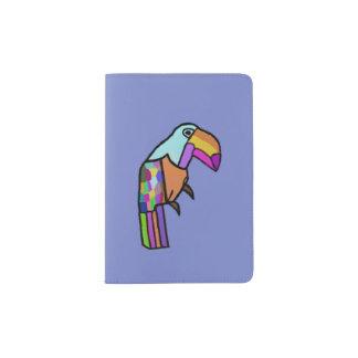 Tropical Parrot Passport Holder