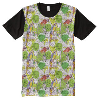 Tropical Parrots All-Over-Print T-Shirt