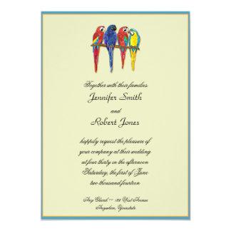 Tropical Parrots Invitation
