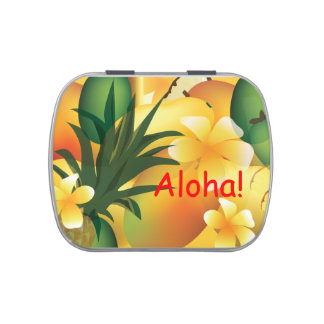 Tropical Party Food Design Candy Tin