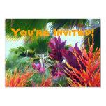 "Tropical Party Invitation 5"" X 7"" Invitation Card"