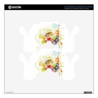 Tropical party poster decal for PS3 controller