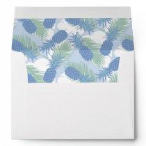 Tropical Pastel Pineapple Pattern Envelope