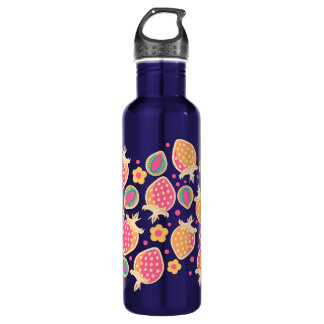Tropical Pastel Strawberries & Slices Water Bottle
