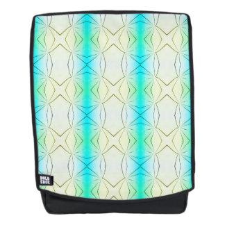 Tropical Pastel Streaks Geometric Pattern Backpack