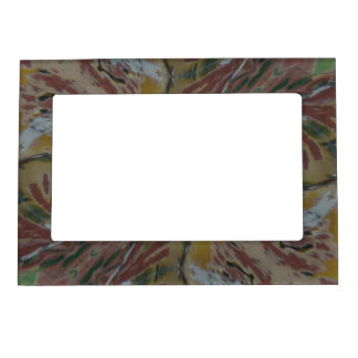 Tropical Pattern Abstract Magnetic Photo Frame