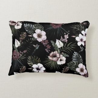 Tropical pattern accent pillow