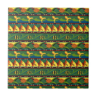 Tropical Pattern Ceramic Tile