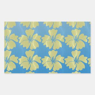 tropical pattern rectangular sticker